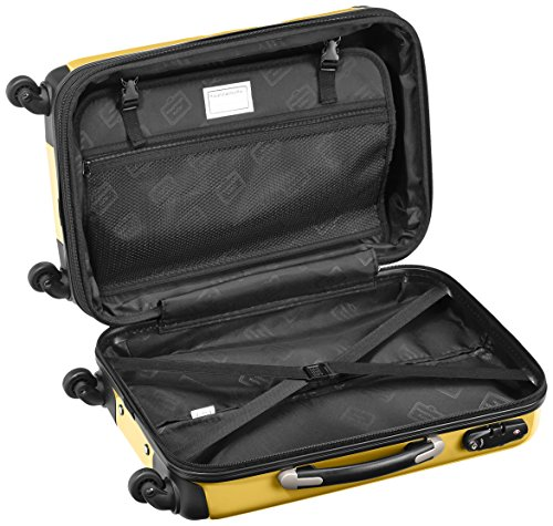 HAUPTSTADTKOFFER - Alex - 2 x Handgepäck Hartschale glänzend, TSA, 55 cm, 42 Liter, Graphit-Apfelgrün Gelb