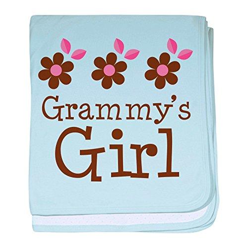 CafePress–Grammy 's Girl Daisies Baby Decke–Baby Decke, Super Weich Für Neugeborene Wickeldecke, baumwolle, himmelblau, Standard