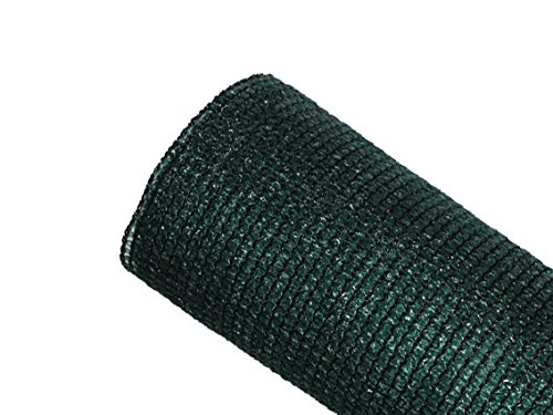 MAILLESTORE Brise-Vue 85% - Vert/Noir - 130g/m² - sans Boutonnières Vert/Noir 1m x 3m