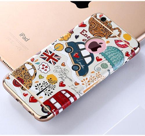 "Apple iphone Schutzhülle Kreativität handlich abziehbar case 3D Reliefmalerei Slim PC Hard Back Case Cover (iPhone 5/5S/5SE 4"", Eiffelturm) Auto"