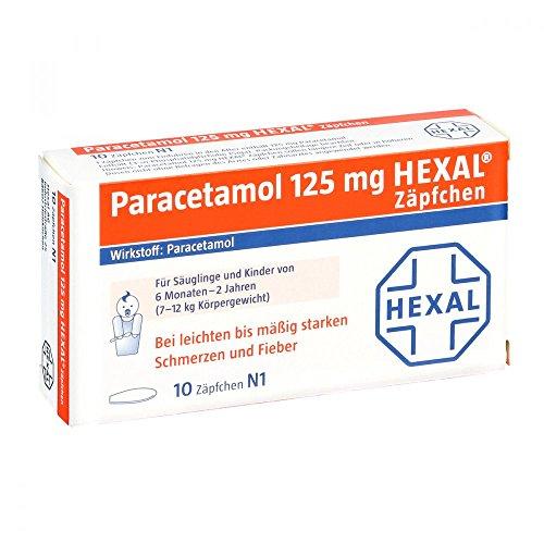 Paracetamol Hexal 125 mg Zäpfchen, 10 St.