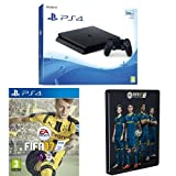 Ps4 Console Best Deals - Sony PlayStation 4 500GB + FIFA 17 Standard Steelbook (Exclusive to Amazon.co.uk)
