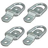 Fissaggio anelli, Shineus acciaio D Ring Tie Downs cargo trailer ancore punti per rimorchi furgoni barca fuori strada camion Horsebox corde
