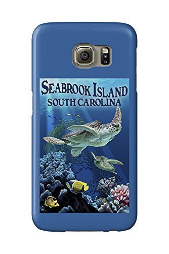 Seabrook Island, South Carolina - Sea Turtles Swimming (Galaxy S6 Cell Phone Case, Slim Barely There) -
