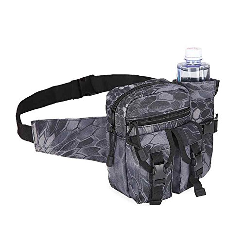 Taktische Wasserflasche Taillenpaket, wasserdicht Militär Taille Gürtel Utility Wasser Flasche Beutel Tasche Bumbag für Trekking Wandern Wandern Fahrrad Radfahren Klettern BlackPython