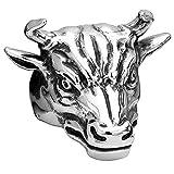 Claire Jin Titan Kopf der Stier Ring Herren Schmuck Chanceuse Wall Street übertrieben Große Ringe