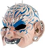 infactory Fasching-Maske: Dämonen-Halbmaske aus Latex (Horror-Maske)
