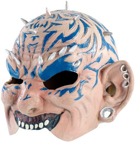 infactory Fasching-Maske: Dämonen-Halbmaske aus Latex -