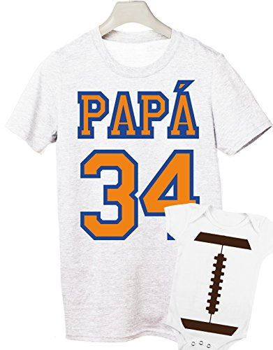 coppia t-shirt e body festa del papà -Football combo- tutte le taglie uomo donna maglietta by tshirteria bianco