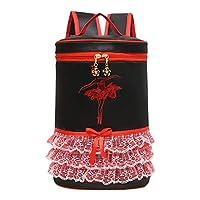 Ansemen Bowknot Ballet Bag - Dancing Handbag Ballerina Backpack Student Daypack Girls Carry Bag Casual Shoulder Bag for Ballet Shoes Skirt Leotard