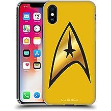Ufficiale Star Trek Comando Solo Uniformi E Stemmi TOS Cover Morbida In Gel Per Apple iPhone X