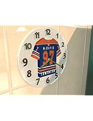 Liga Nacional de HOCKEY NHL - la conferencia oeste - PACIFIC DIVISION JERSEY relojes de pared - cualquier nombre, cualquier número, cualquier equipo - de forma gratuita! EDMONTON OILERS