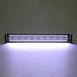SIMBR Illuminazione Acquario 18w 90 bianco LED +18 blu LED adatto a 72-90 cm acquario di normative europee