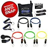 Bodylastics 12 pcs Snap Guard Resistance Bands Set with 5 Stackable anti-snap exercise tubes