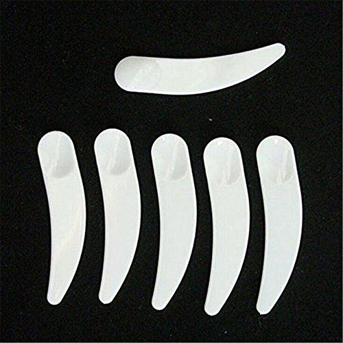 Accmart 100PCS Mini gebogen Kosmetik PP Spatel Schaufel Löffel aus Kunststoff Einweg für oder Masken, Cremes, Gels, etc, Lippenstift, Make-up-etc. (weiß)