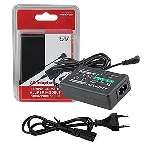 Ladegerät für Sony PSP ladekabel kompatibel mit alle Modelle-1000/psp-1004/Brite (PSP-3000/PSP-3004)/PSP Slim & Lite (PSP-2000/PSP-2004)/PSP Street (PSP-E1000/PSP-E1004) Netzteil Playstation Portable