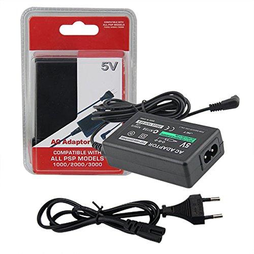 Chargeur AGF pour Sony PSP compatible avec tous les modèles -1000 / PSP-1004 / Brite (PSP-3000 / PSP-3004) / PSP Slim & Lite (PSP-2000 / PSP-2004) / PSP Street (PSP-E1000 / PSP) -E1004) Playstation Alimentation portable