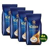 EILLES Kaffee CAFFÈ CREMA Ganze Bohne 4x 1000g (4000g) - Spitzenqualität mit feinster CREMA