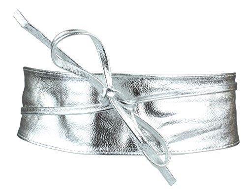 Breiter Hüftgürtel Damen / Taillengürtel in silber