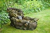Ubbink Wasserspiel Aspen Brunnen Wasserfall MiniWasserfall Beleuchtung Garten