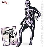 Die besten unbekannt Halloween Kostüme Herren - Unbekannt Herren Kostüm Skelett Ganzkörperanzug Halloween Gr.XL Bewertungen