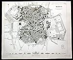Madrid - Madrid Espana Spain city map...