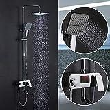 Homelody 3-Wege Duschsystem Duschset mit LCD Temperatur-Anzeige Regendusche Duscharmatur Dusche Rainshower inkl. Handbrause Überkopfbrause Brausestange