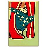 taoyuemaoyi Affiche Vintage Drôle Marvel Super-Héros Superman Batman Flash Film Affiches Mur Art Peinture Rétro Affiche Home Decor 40 * 60 Cm