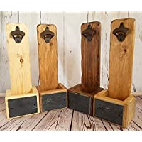 Handmade, PERSONALISED wall mounted beer bottle opener. Birthday or Christmas gift for dad, brother or son. Kitchen, bar, BBQ, party or man cave!