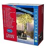 Konstsmide 3613-103 Micro LED Lichterkette/für Außen (IP44) / 24V Außentrafo / 200 warm weiße Dioden/transparentes Kabel