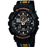 Casio Men's Quartz Watch G-shock GA-100MC-1A4ER with Textile Strap