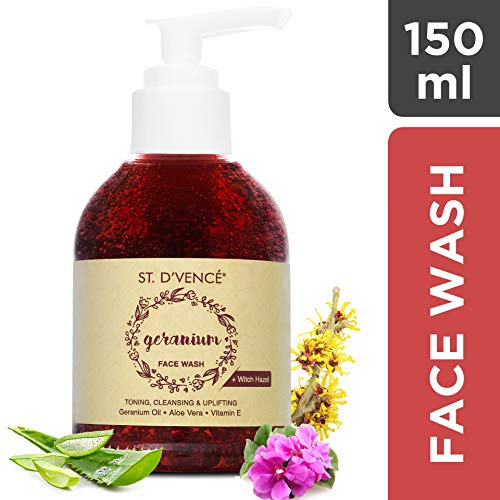 ST. D'Vence Egyptian Geranium Oil and Witch Hazel Face Wash, 150 ml