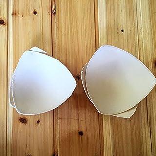 AsentechUK® 2Paar Frau Triangle Bademode BH Cup Pad-BH Zubehör Ersatz Schaumstoff Pad 14.5cm