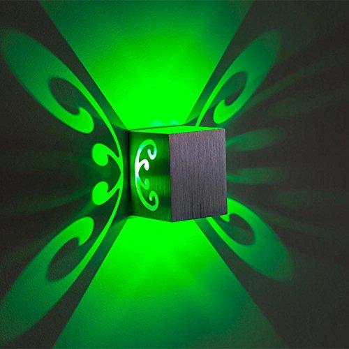 OOFAY LIGHT® Wandleuchte LED Modernes kreatives Farbquadrat-einfaches Nachtlicht oben und unten der Glühen Muster Schatten , green light