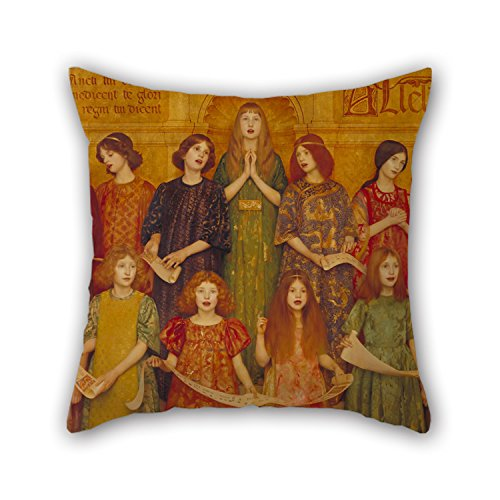 Slimmingpiggy Pillowcase Of Oil Painting Thomas Cooper Gotch - Alleluia,for Bedroom,family,monther,sofa,christmas,wedding 20 X 20 Inches / 50 By 50 Cm(double Sides) (Thomas Cooper Gotch)