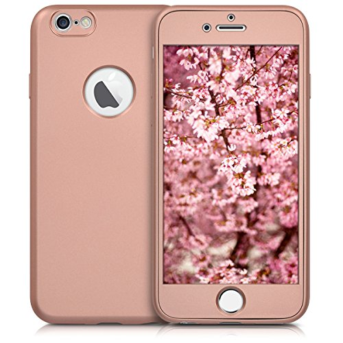 kwmobile Hülle für Apple iPhone 6 / 6S - Backcover Case Handy Schutzhülle TPU Silikon - Back Cover Metallic Rosegold .Metallic Rosegold