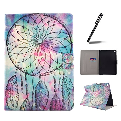 Preisvergleich Produktbild iPad Air 2 Hülle Case,iPad Air 2/ iPad 6 Ledertasche,Ukayfe Muster Schutzhülle Leder Tasche für iPad Air 2,Malerei Blau Traumfänger Dreamcatcher Muster Slim Fit Folio PU leder Flip Cover im Bookstyle Kunstleder Schutzhülle Cover Tasche mit Ständer für Apple iPad Air 2 (iPad 6th Generation) mit 1 x Schwarze Eingabestift (iPad Air 2 : Blue Dream Catcher)