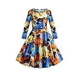 Baby Kinder Mädchen Halloween Kürbis Muster Print Prinzessin Kleid Langarm O Neck T Shirt Kleid...