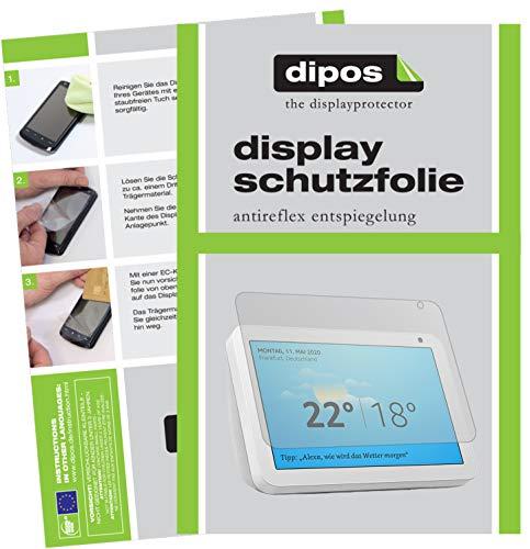 dipos I 2X Schutzfolie matt kompatibel mit Amazn Echos Show 8 Folie Displayschutzfolie