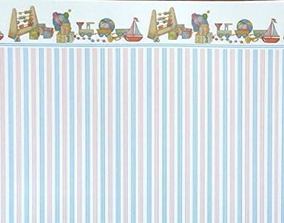 MELODY Jane Casa De Muñecas Azul toystripe miniatura DIBUJO 1:12 Escala infantil Papel Pintado