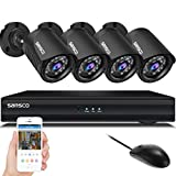 Sansco 4Ch 1080N Cctv Dvr Système de sécurité 4-Cam