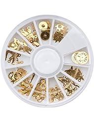 MZP Nail DIY gear rivets métal punk mécanique montre de vent pièces accessoires décoration patch , alloy gear