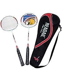 Badminton 2 Jugador Raqueta Aleación De Aluminio Entrenamiento Raqueta Equipo De Deporte Durable Incluyendo Bolsa,Red