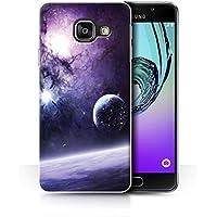 Officiel Chris Cold Coque / Etui pour Samsung Galaxy A3 (2016) / Planète/Lune Design / Monde Étranger Cosmos Collection