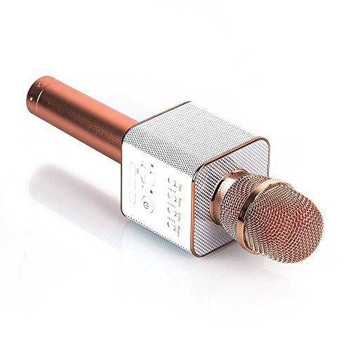 Wireless Bluetooth Karaoke Mikrofon Lautsprecher USB Handheld Mic Player KTV,Rosegold
