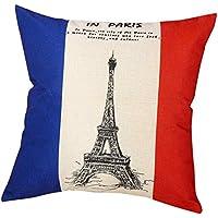 45* 45cm federa, Kingko® La bandiera nazionale Lino Quadrato federe auto divano cuscino Cover, C, taglia