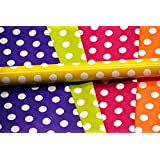 Satyam Kraft Gift Wrapping Polka Dot Mix Colour Paper with 10 Tags, 28 x 19-inch- Pack of 10
