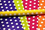#6: Satyam Kraft Gift Wrapping Polka Dot Mix Colour Paper with 10 Tags, 28 x 19-inch- Pack of 10