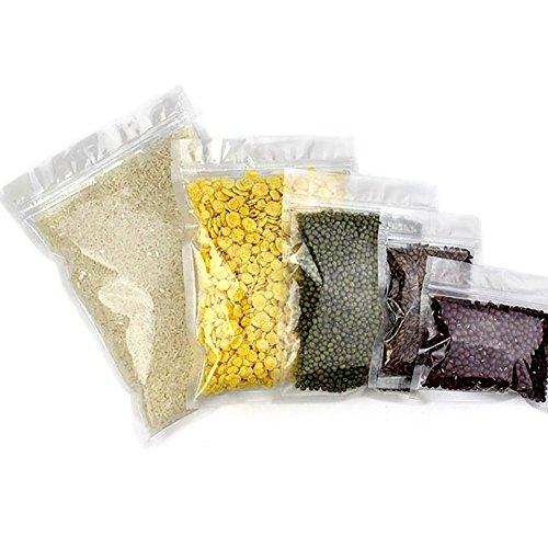 (Prix/50 pcs) Aspire clair Poly Zip Plat Pouches, 3 mil, 14,2 gram à 510,3 gram, conforme aux normes FDA 7.75 x 11.25 inch/18 oz claire