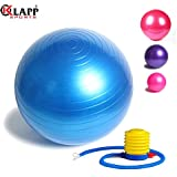 Klapp Gym Ball With Foot Pump, Anti-Burst Gym Ball, Colour May Vary